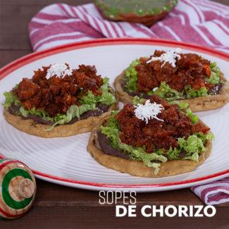 Sopes de Chorizo